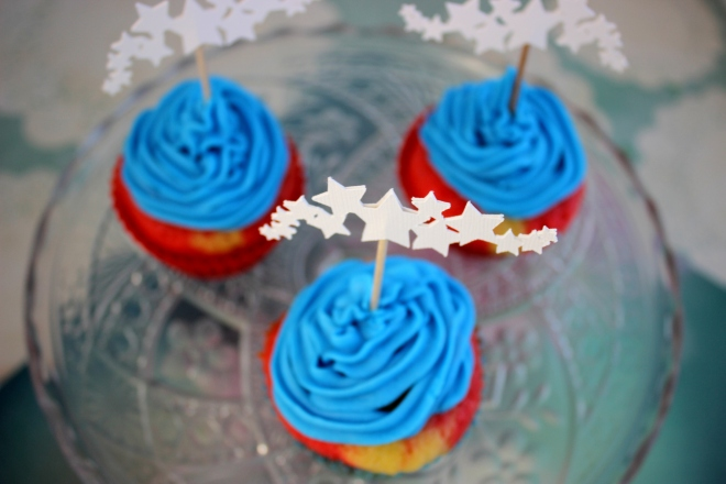 SVG Silhouette Cameo cut cupcake toppers
