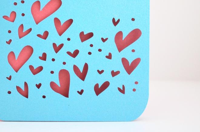 Heart detail on Mason Jar card.