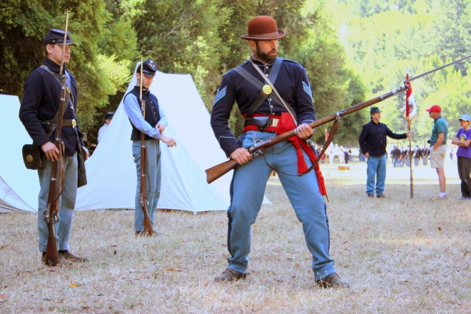 Bayonet training.