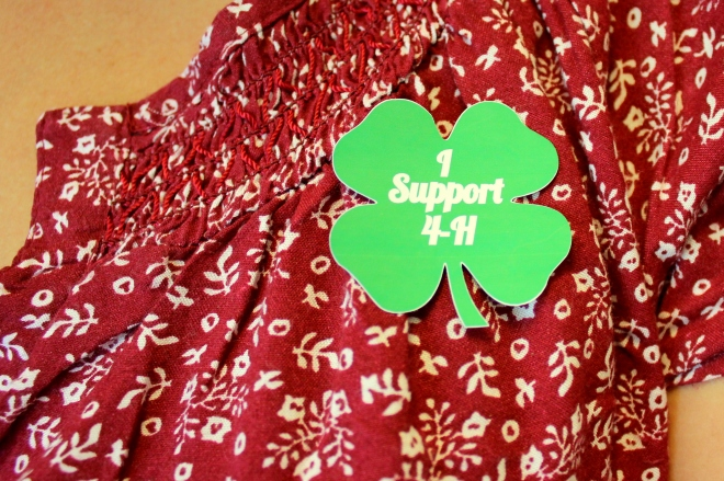I support 4-H sticker