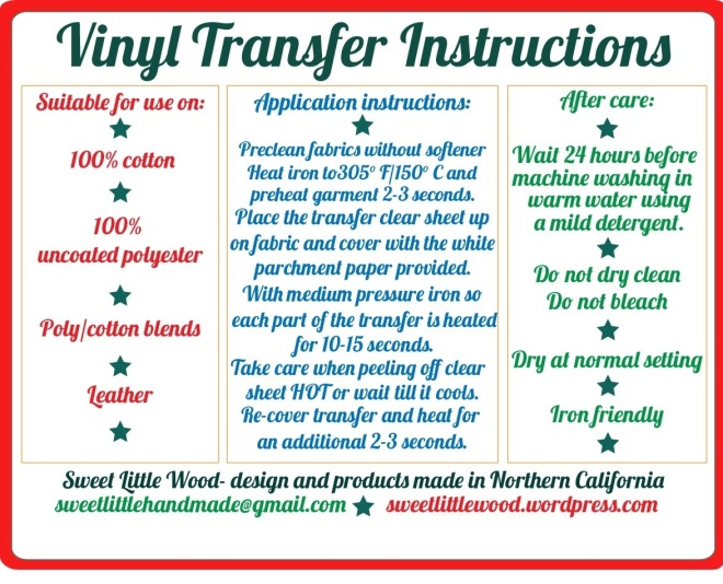 Smooth Vinyl Instructions