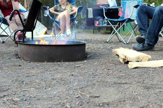Yellowstone: evening campfire.