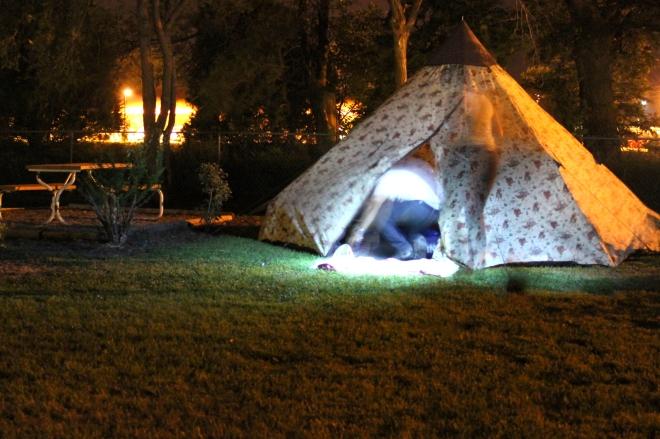 The late night set up. South Dakota.
