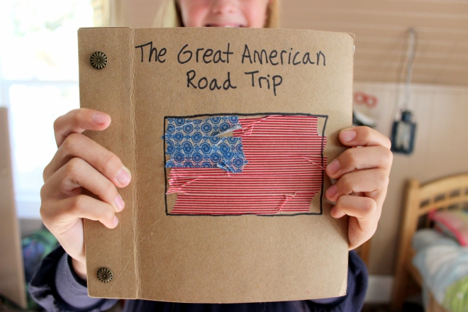 E.'s Simple travel Scrapbook: cover.