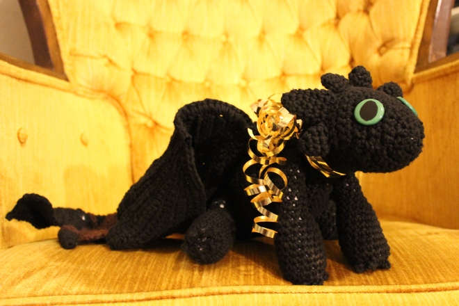 Sweet Little Wood Crochet Toothless gift