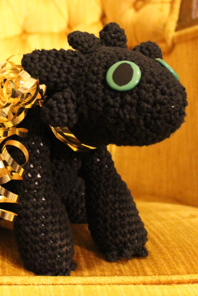 Sweet Little Wood. Crochet Toothless toy gift making toy eyes