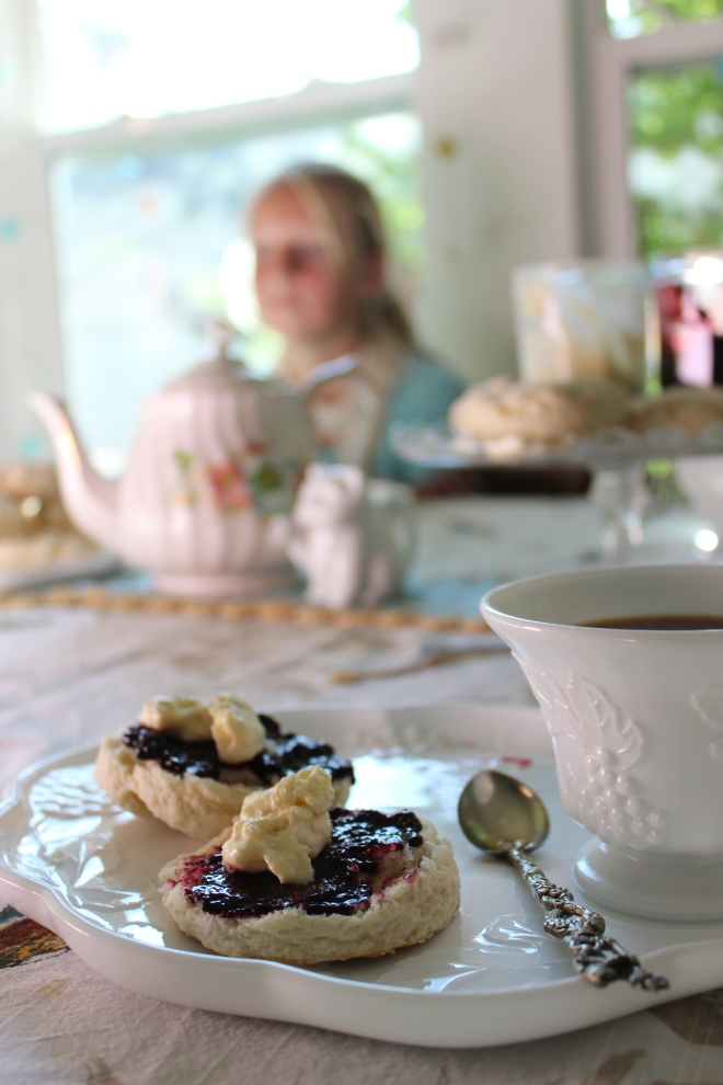 Cream Tea and home made Clotted Cream @ Sweet Little Wood
