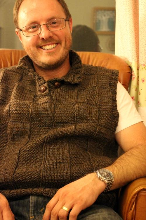 M's Beau Vest. Yarn Along @ Sweet Little Wood