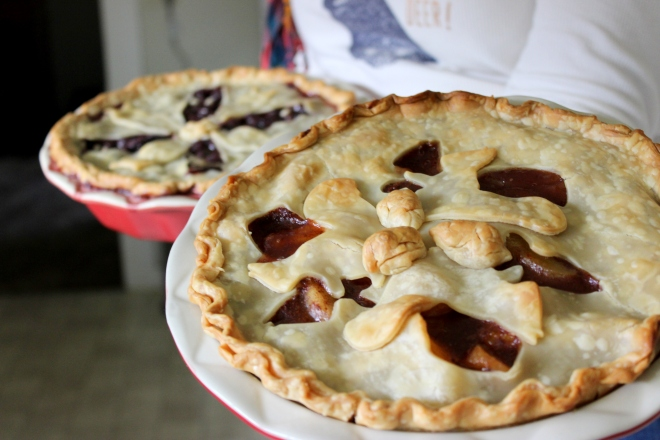 Apple and Blueberry Pie @ Sweet Little Wood