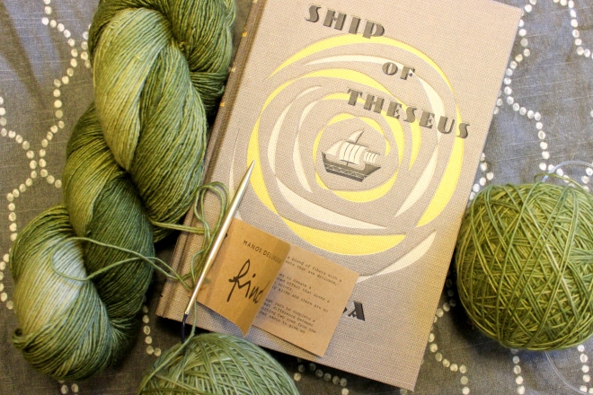 Manos del Uruguay and S by J. J. Abrams- Yarn Along @ Sweet Little Wood