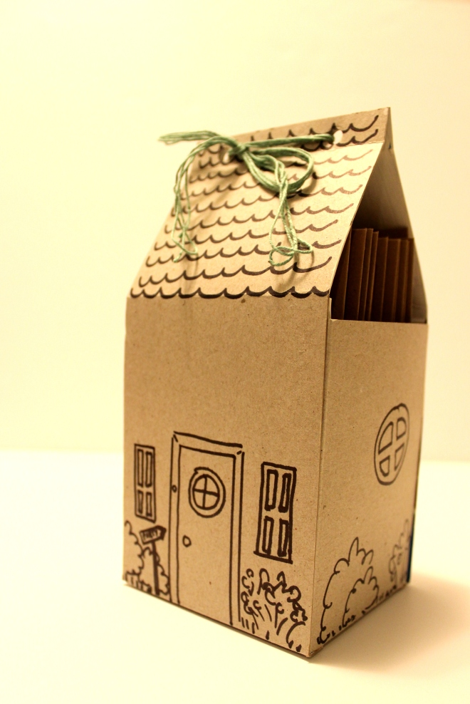 A tiny house made from a cereal box @ Sweet Little Wood