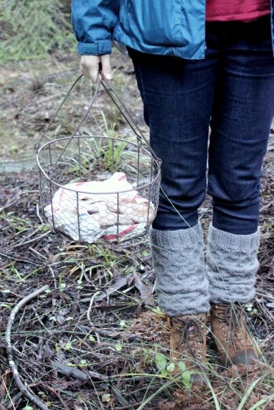 Honey Bees Knees Legwarmers.  A free knitting pattern @Sweet Little Wood