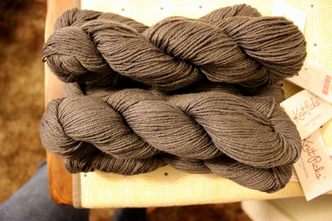 Knit Picks, Gloss Fingering in Hawk @ Sweet Little Wood