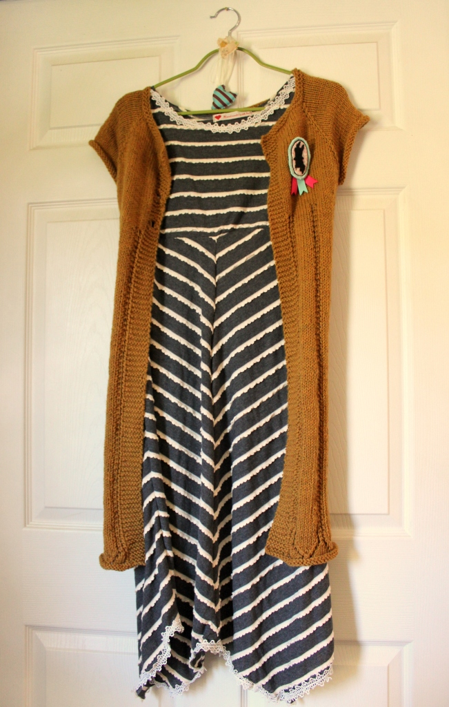 J's pumpkin Cardi and Autumn dress.